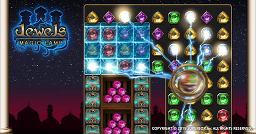 Jewels Magic Lamp : Match 3 Puzzle apkpoly screenshots 3