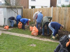 Photo: Spring gardening on Bridge Recreation Ground 7th March 2009