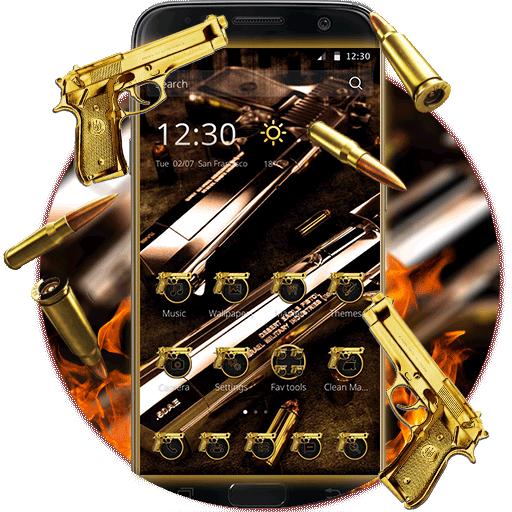 Gun Theme Gold AK47 SMG Pistol