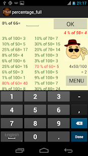 percentage math fun Screenshot