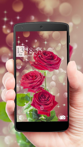 Red rose dream bubble theme 1.1.9 screenshots 1