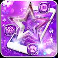 Purple Glitter Stars Butterfly Theme