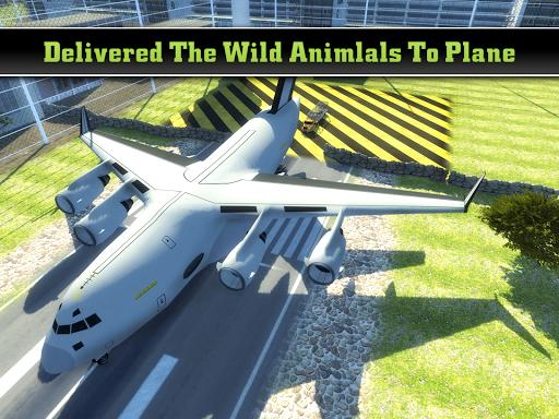 動物園の動物貨物飛行機空港