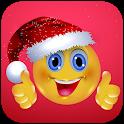 Santa Hat and Christmas Emoticons icon