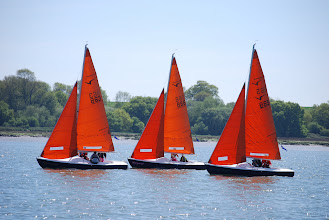 Photo: The UK Blind National Championships sailing our fleet of Squibs.  We have hosted this very successful event for the past two years and plan to do so again in 2012. (East Anglian Sailing Trust)