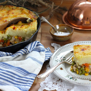 Leftover Turkey Skillet Shepherd's Pie