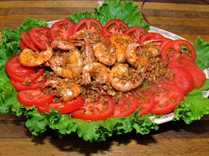 Photo: crisp-fried garlic-peppered shrimp