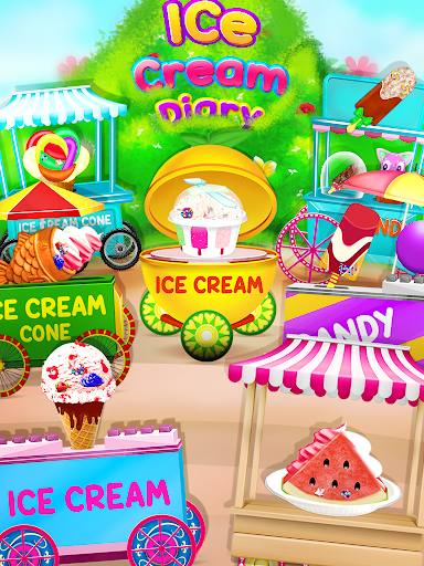 Ice Cream Diary - Cooking Games APK MOD – ressources Illimitées (Astuce) screenshots hack proof 1