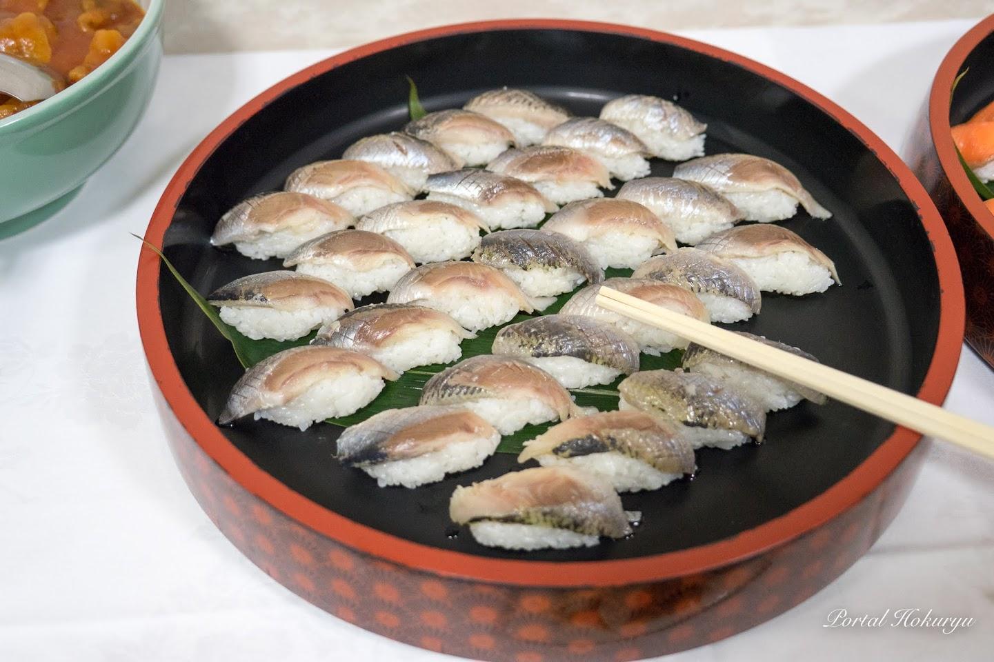 豪華な握り寿司