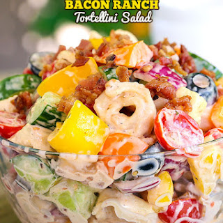 Bacon Ranch Tortellini Salad