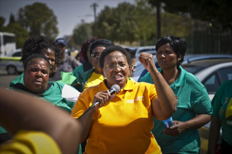 Sports MEC Faith Mazibuko addresses a rally in Fochville. The DA has asked the Electoral Commission of SA to investigate her for using taxpayers' money to get support for the ANC in the May 8 polls.