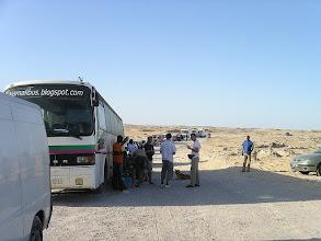 Photo: kolejka do odprawy na granicy Mauretańskiej