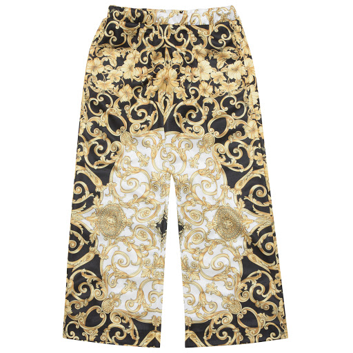 Primary image of Young Versace Baroque Print Trousers