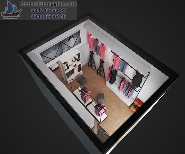 thiết kế cửa hàng diện tích nhỏ