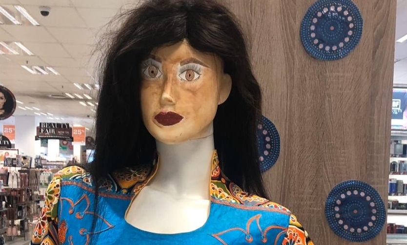 'Rogue' black face mannequin snapped in Dis-Chem store
