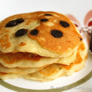 Coconut Chocolate Chip Pancakes