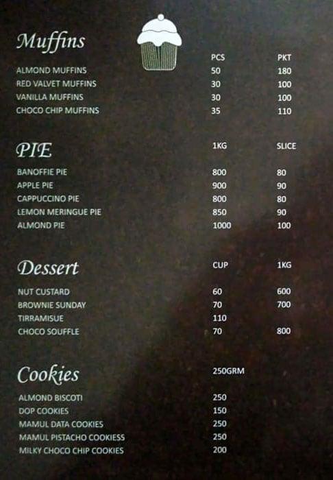 Cake On Wheels menu 2