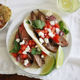 Carne Asada Tacos with Pineapple Salsa.
