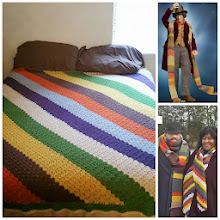 Photo: 4th Doctor (Dr. Who) inspired bedspread! My 3rd Dr. Who project to go with the scarves I made for Kalonji and I