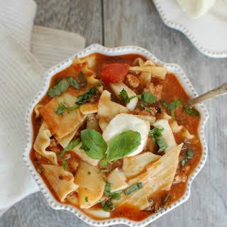 Slow Cooker Turkey Kale Lasagna Soup.
