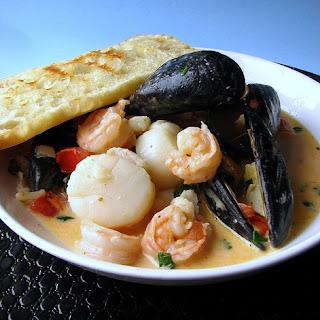 Thai Curry Seafood Bruschetta.