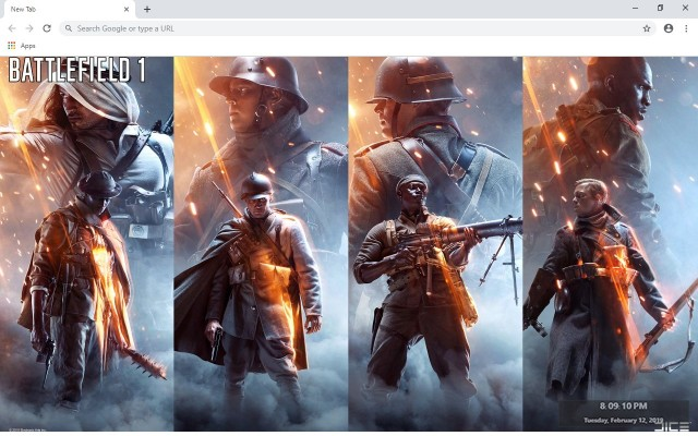 Battlefield 1 Custom New Tab