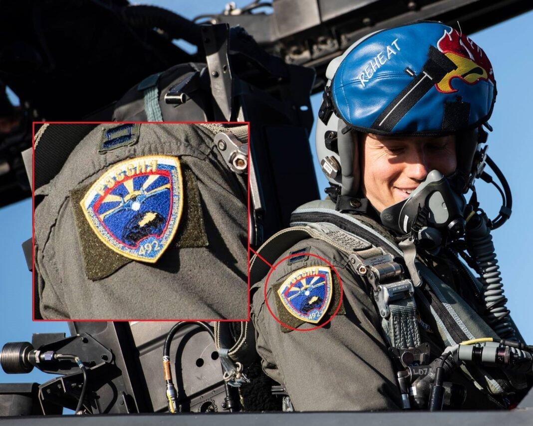 Летчик ВВС США сфотографирован с нашивкой ВВС  России