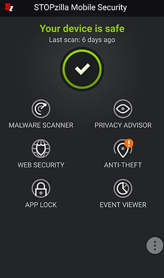 STOPzilla Mobile Security- screenshot