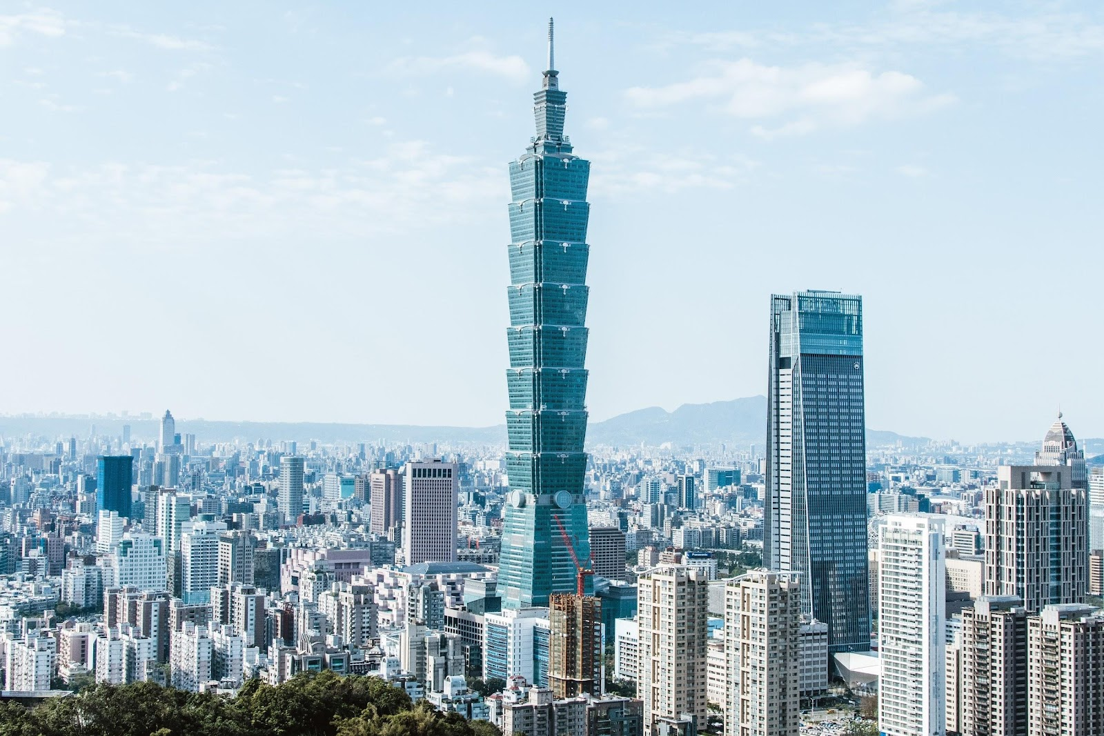 They must have done something right. Skyline of Taipei, Taiwan.