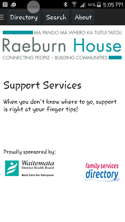 Support Services- screenshot