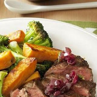 Pepper-Crusted Steak with Roasted Veggies