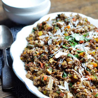 Colorful Lentil Salad with Walnuts & Herbs.