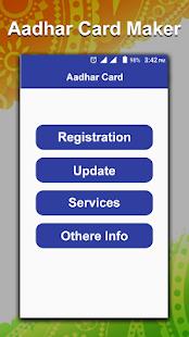 Fake Adhar Card Maker : Online Aadhar Card Update - náhled