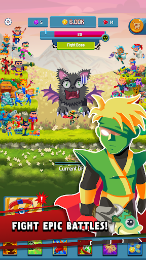 Tap Superheroes: Be a brave Hero in this Idle Game - screenshot