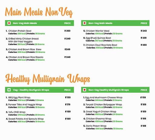 Healthy House menu 3
