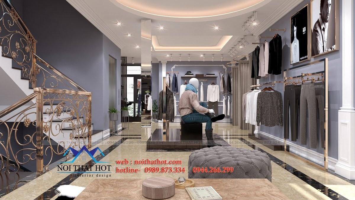 thiết kế shop thời trang sang trọng 11