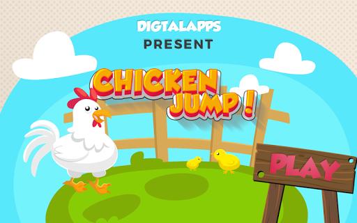 Chicken Jump in the farm