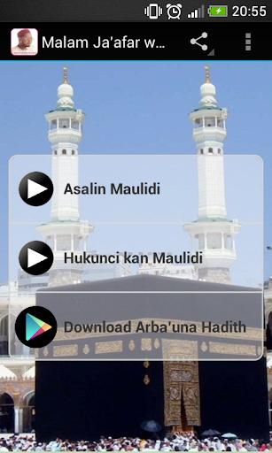Malam Ja'afar wa'azin Maulidi