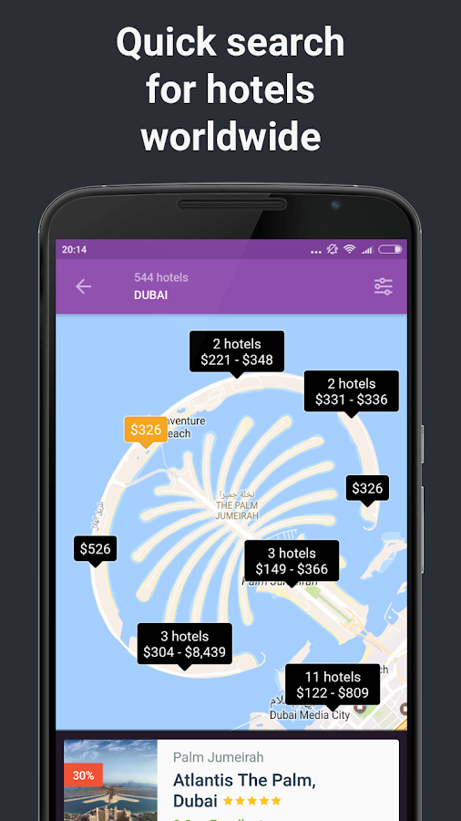 Hotels and Flights- screenshot