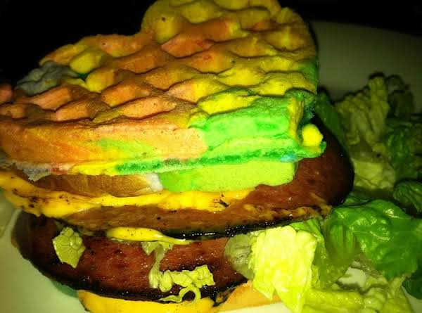 Rainbow & Tie Dyed Waffle Sandwiches !