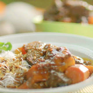 Vietnamese Style Beef Stew with Vermicelli.