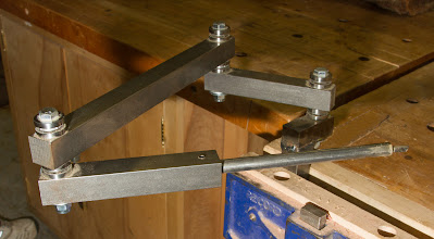 "Photo: Benji Omisore 30+"" home made hollowing jig with bearings [metal]"