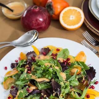Persimmon, Blood Orange & Pomegranate Salad.