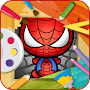 how to draw super heros APK icon