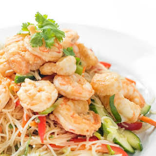 Thai Shrimp Rice Noodle Salad.