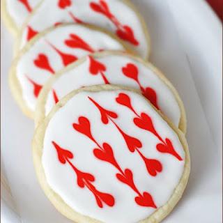 Iced Heart Sugar Cookies Recipe
