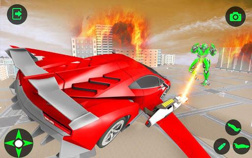 Flying Car- Super Robot Transformation Simulator apkpoly screenshots 13