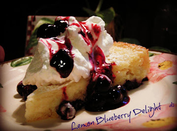 Lemon Blueberry Delight Cream Cheese Cake Recipe