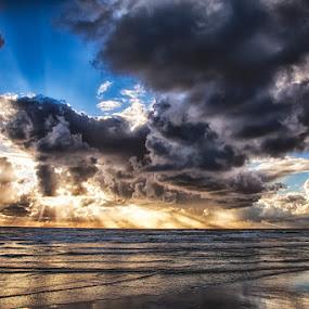 Wonderful nature ! by Kai Buddensiek - Landscapes Waterscapes ( clouds, landschaft, fanø, hdr, 24-105, wolken, sea, denmark, landscape, meer, dänemark )