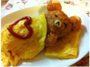 Teddy Bear Omelette Recipe